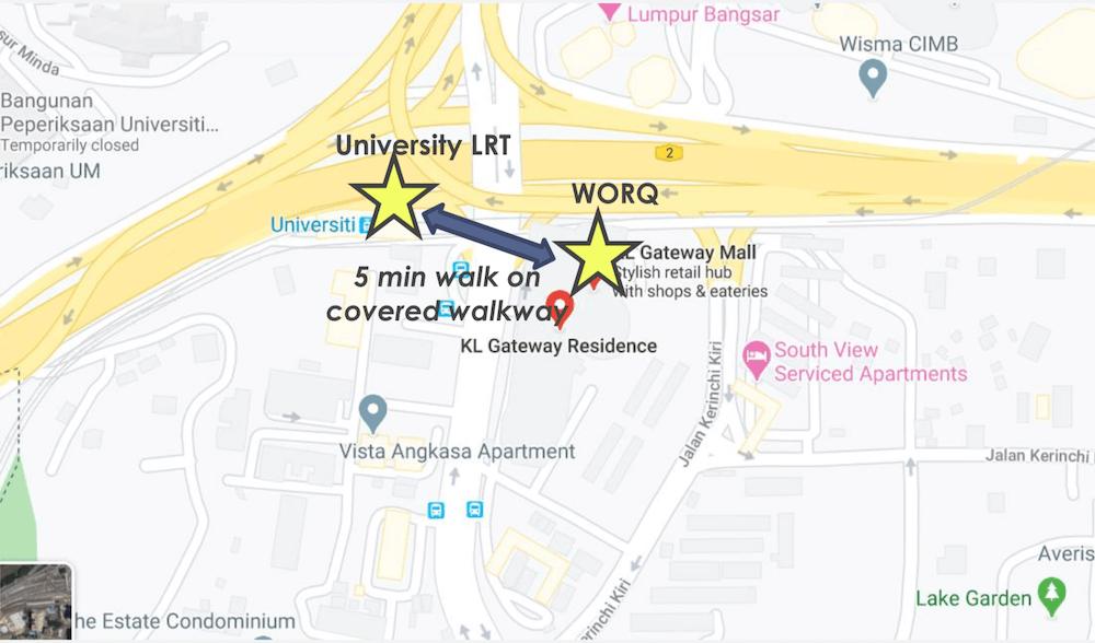 KLG Location To MRT