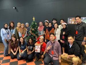 WORQ KL Gateway members in festive mood celebration.