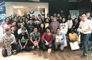 WORQ TTDI members in festive mood celebration.