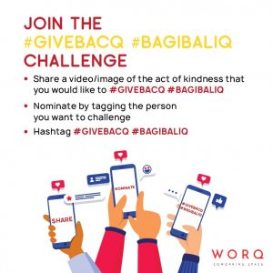 Supporting Our WORQ Members During COVID-19: Join the #GIVEBACQ #BAGIBALIQ Challenge