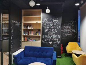 WORQ x Millacreates chalk board murals 2