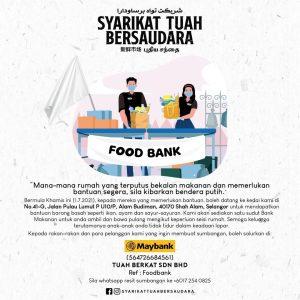 Food Bank initiative by Syarikat Tuah Bersaudara