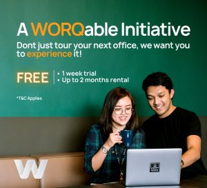 WORQable Initiative collateral for hybrid working